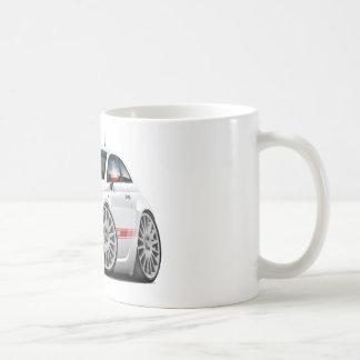 Weiß-Auto Fiats 500 Abarth Kaffeetasse