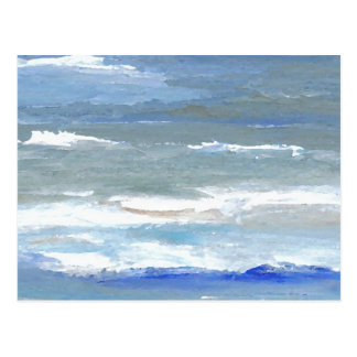 Weiß bedeckt CricketDiane Ozean-Wellen-Kunst mit Postkarten