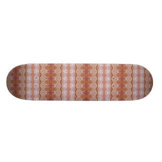 Weiß-Blätter auf Pfirsich Skateboard Individuelle Skateboarddecks