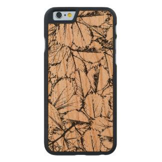 Weiß-Blätter Carved® iPhone 6 Hülle Kirsche