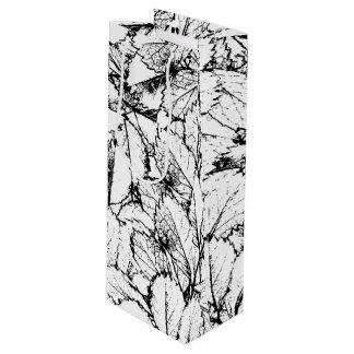 Weiß-Blätter Geschenktüte Für Weinflaschen