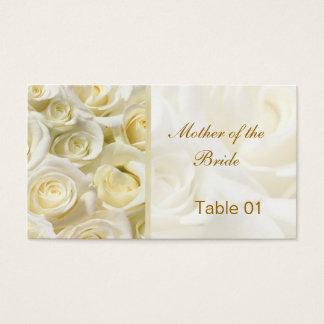 Weiß-Creme Rosen Visitenkarten