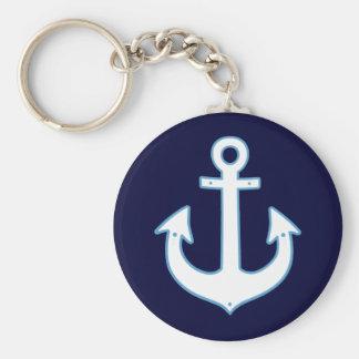 Weiß, das Seeanker yachting ist Schlüsselanhänger