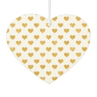 Weiß der Liebe-2018 - goldenes Herz Autolufterfrischer