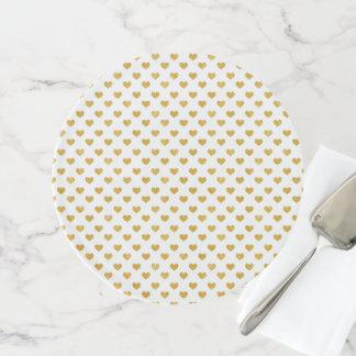 Weiß der Liebe-2018 - goldenes Herz Tortenplatte
