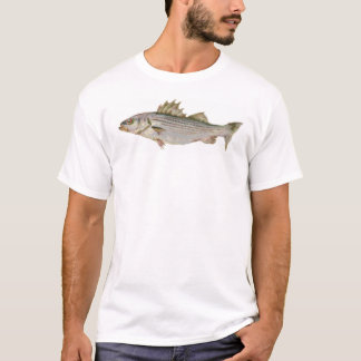 Weiß des gestreiften Basses geerntet T-Shirt