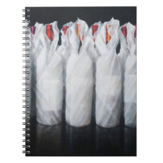Weiß eingewickelter Wein 2012 Spiral Notizbücher