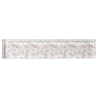 Weiß, Marmor, Rosengold, modern, Chic, schön, eleg Schreibtischplakette