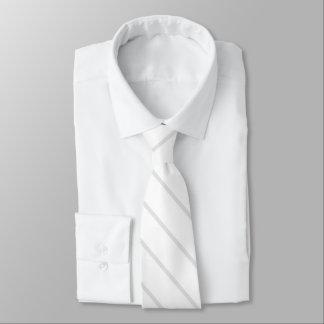Weiß mit den blassen grauen diagonalen wedding individuelle krawatten