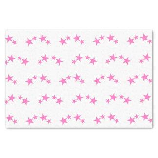 Weiß mit Pinksternen Seidenpapier