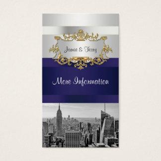 Weiß NYC Skyline BWs 05, Visitenkarten