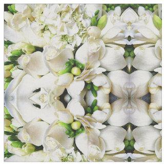 Weiß-Rosen der Liebe Stoff