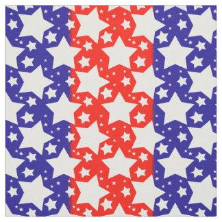 Weiß-Sterne auf den roten und blauen Streifen Stoff