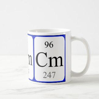 Weiß-Tasse des Elements 96 - Curium Kaffeetasse