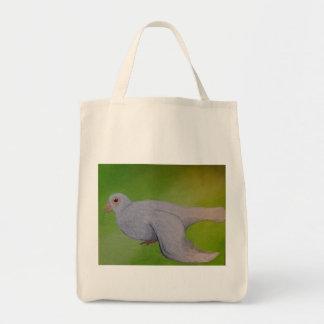 Weiß-Tauben-Einkaufstüte Tragetasche