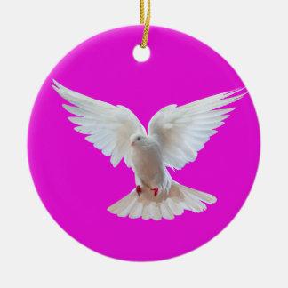 Weiß-Taubenbild für Kreis-Verzierung Keramik Ornament