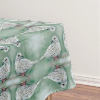 Weiß tauchte im Kiefern-Weihnachten Tischdecke