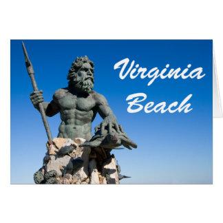 Weiß-Text Virginia Beach Poseidon Statue-w Karte