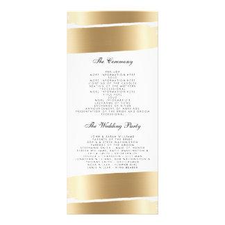Weiß u. Goldbürsten-Schlagmann-Hochzeits-Programm Werbekarte