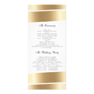 Weiß u. Goldbürsten-Schlagmann-Hochzeits-Programm Werbekarten