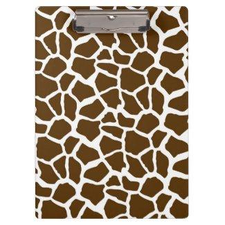 Weiß und Brown-Giraffen-Tierdruck