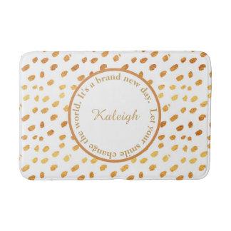 Weiß und Goldconfetti-inspirierend Bad-Matte Badematte