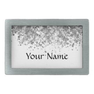 Weiß und Imitat-Glitter personalisiert Rechteckige Gürtelschnallen