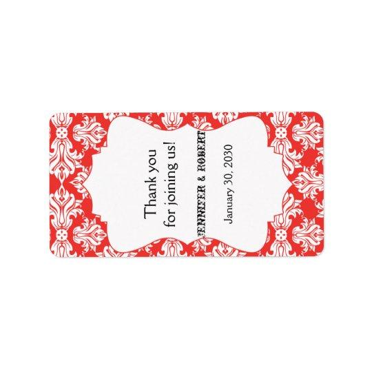 Weiß und Mohnblumen-roter Adressaufkleber