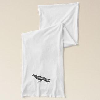 Weiß-und Schwarz-Rabe Schal