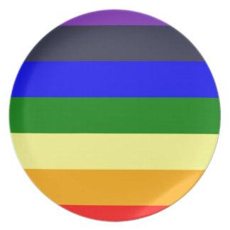 Weiß, zum des Regenbogens der Farbkräfte zu Melaminteller