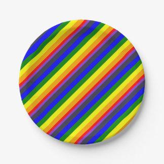 Weiß, zum des Regenbogens der Farbkräfte zu Pappteller