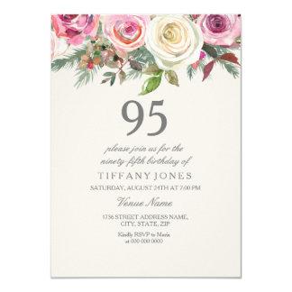 Weiße 96. 97. 98. 99. Geburtstag der Rosen-95. Karte