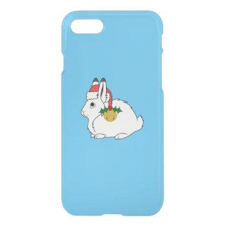 Weiße arktische Hasen mit Weihnachtsmannmütze u. iPhone 8/7 Hülle