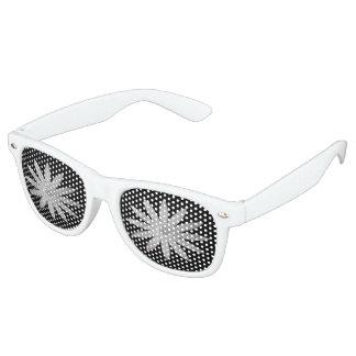 Weiße Augen-Blume Partybrille