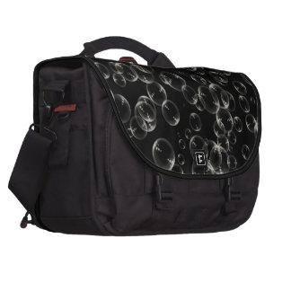 Weiße Blasen in der schwarzen Pendler-Tasche Laptoptaschen