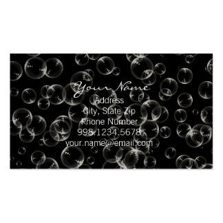 Weiße Blasen in der schwarzen Visitenkarte