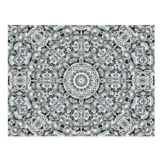 Weiße Blatt-Kaleidoskop-   Postkarten