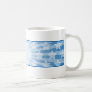 Weiße blaue patriotische Sterne USA Kaffeetasse