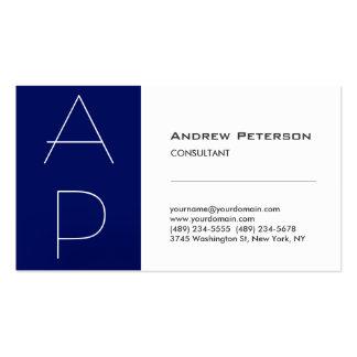 Weiße blauer Streifen-modische Visitenkarten Vorlagen