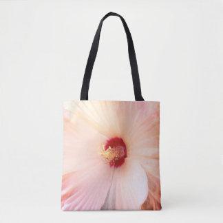 Weiße Blume mit roter voller Blüte Tasche