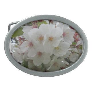 Weiße Blumen-Gürtelschnalle Ovale Gürtelschnallen