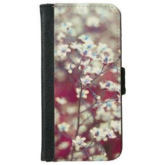 Weiße Blumen iPhone 6/6s Geldbeutel Hülle