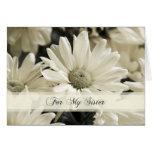 Weiße Blumen-Schwester-Trauzeugin-Einladungs-Karte