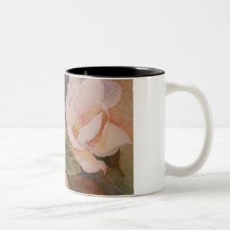 Weiße Blumen Zweifarbige Tasse