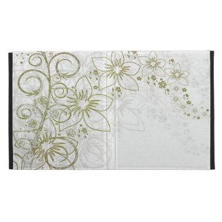 Weiße Blumenkunst
