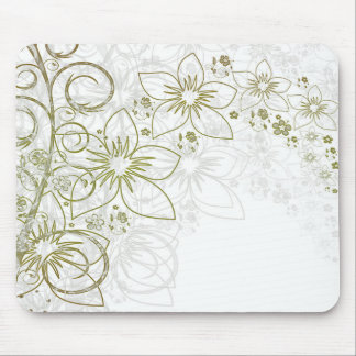 Weiße Blumenkunst Mousepad