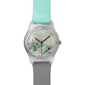 Weiße Blüten vom Süden Armbanduhr