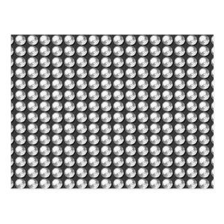Weiße BNW Edelsteine des Schein-NVN1 des Schwarz-n Postkarte