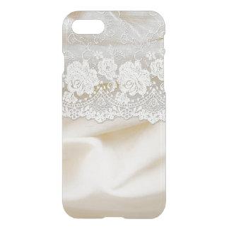 Weiße Brautspitze auf Seide iPhone 8/7 Hülle
