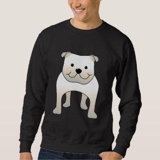 Weiße Bulldogge. Niedliche Hundekarikatur Sweatshirt